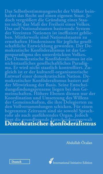 Demokratischer Konföderalismus - Free Öcalan!