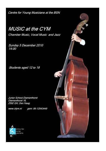 Programme - The Centre for Young Musicians