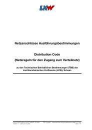 Netzanschlüsse Ausführungsbestimmungen Distribution Code ...