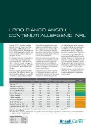 LIBRO BIANCO ANSELL II CONTENUTI ... - Ansell Healthcare Europe