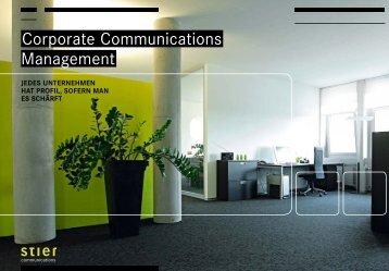 Corporate Communications Management - Stier Communications AG