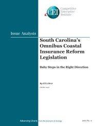 South Carolina's Omnibus Coastal Insurance Reform Legislation