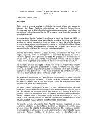 O PAPEL DAS PEQUENAS CIDADES NA REDE URBANA DO ...