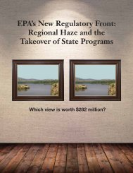 EPA's New Regulatory Front: Regional Haze and the Takeover of ...