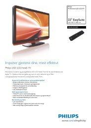 22HFL3233D/10 Philips Professional LED LCD-TV - Magnavox