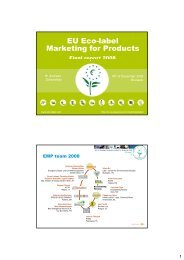 Final Report 2008 - EU Ecolabel Marketing for Products