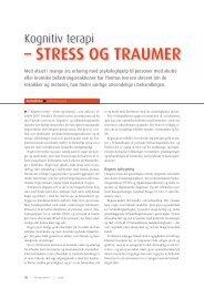 Kognitiv terapi – stress og traumer - Elbo