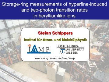 Stefan Schippers - Physical Measurement Laboratory