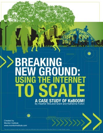 Breaking New Ground: Using the Internet to Scale - Monitor Institute