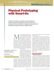 Physical Prototyping with Smart-Its - Lancaster University
