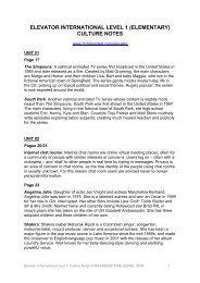 Elevator 1 Culture Notes - Elevator - Richmond