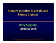 Manure Injection in No-till and Pasture Systems R M i Rory Maguire ...