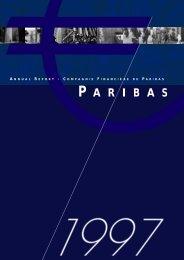 1997-Paribas Annual Report - BNP Paribas