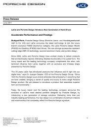 Press Release Accelerate Performance and Prestige - Porsche Design