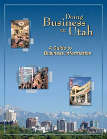 Doing Business in Utah - Utah State Tax Commission - Utah.gov