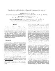 Specification and Verification of Dynamic Communication Systems