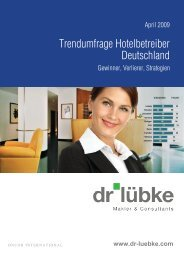 Hotel Trendstudie April 2009 Dr Lübke - Immobilienverlag Stuttgart