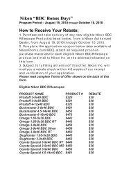 "Nikon ""BDC Bonus Days"" - OpticsPlanet.com"