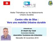 M. Riadh HAJTEIB Président ASSOCIATION TUNISIENNE ... - CMI