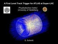 Level 1 Track Trigger for ATLAS - IRTG Heidelberg