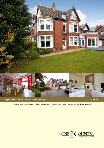 Rhyddington | 14 Eden Avenue | Lytham | FY8 5PS ... - Fine & Country