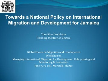 International Migration and Development in Jamaica - Global Forum ...