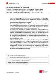 Kompaktinfo Rechtsextremismus - Uta Zapf