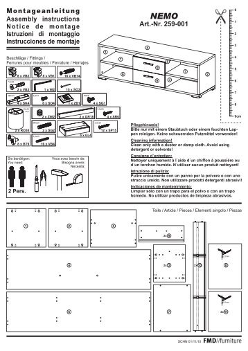 Art.-Nr. 259-001 Montageanleitung Assembly instructions Notice de ...
