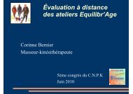 Evaluation à distance des ateliers Equilibr'Age, etude sur 120 ...