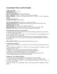 CV - Collegium Helveticum