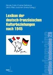 Lexikon der deutsch-französischen Kulturbeziehungen nach ... - Narr