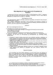 Trafikministeriets bekendtgørelse om ordensreglement for ...