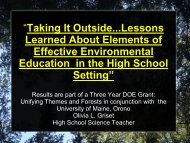 MEEA survey results - School of Forest Resources - University of ...