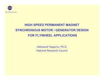HIGH SPEED PERMANENT MAGNET SYNCHRONOUS MOTOR ...