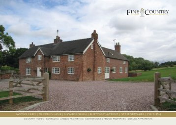 easons farm | duffield lane | newborough | burton ... - Fine & Country