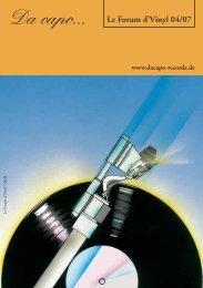 Le Forum d´Vinyl Ausgabe April 2007 - Da capo