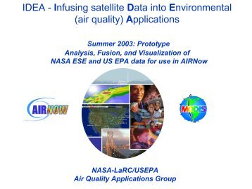 IDEA - Infusing satellite Data into Environmental (air quality ... - Capita