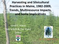 Harvesting and Silvicultural Practices in Maine, 1982-2009, Trends ...