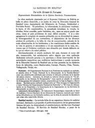 LA SANIDAD EN BOLIVIA* Por el Sr. HUBERT E ... - PAHO/WHO