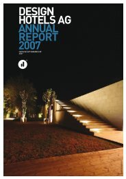 DESIGN HOTELS AG ANNUAL REPORT 2007