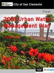 2010 Urban Water Management Plan - City of San Clemente
