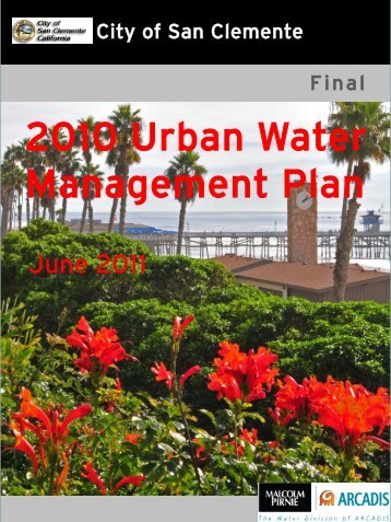 2010 Urban Water Management Plan - City of San Clemente