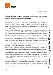 Orange Business Services crée Fleet Performance, une ... - Costkiller