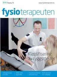 Last ned PDF - Fysioterapeuten