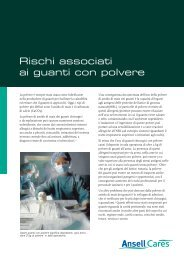 Hazards of Powdered Gloves it - Ansell Healthcare Europe