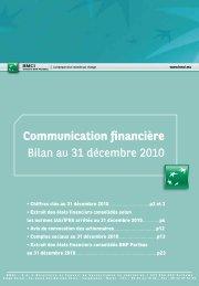 Communication financière - BNP Paribas
