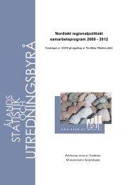 Nordiskt regionalpolitiskt samarbetsprogram 2009 - 2012 - ÅSUB