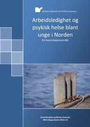 Arbeidsledighet og psykisk helse blant unge i Norden - Nordiska ...