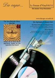 Le Forum d´Vinyl Ausgabe Januar 2011 - Da capo