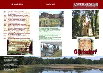 Faszination Natur Park-, Wald- und Seenlandschaft - Angermünde